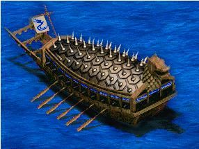 Korean Turtle Ship, amazing and one of the first using chemical warfare with sulfer and salt peter out of the dragons mouth