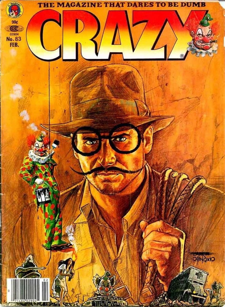 Crazy Magazine 83. Indiana Jones satire. | Mad Magazine ...