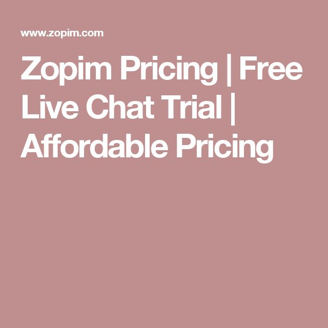 Zopim Pricing | Free Live Chat Trial | Affordable Pricing