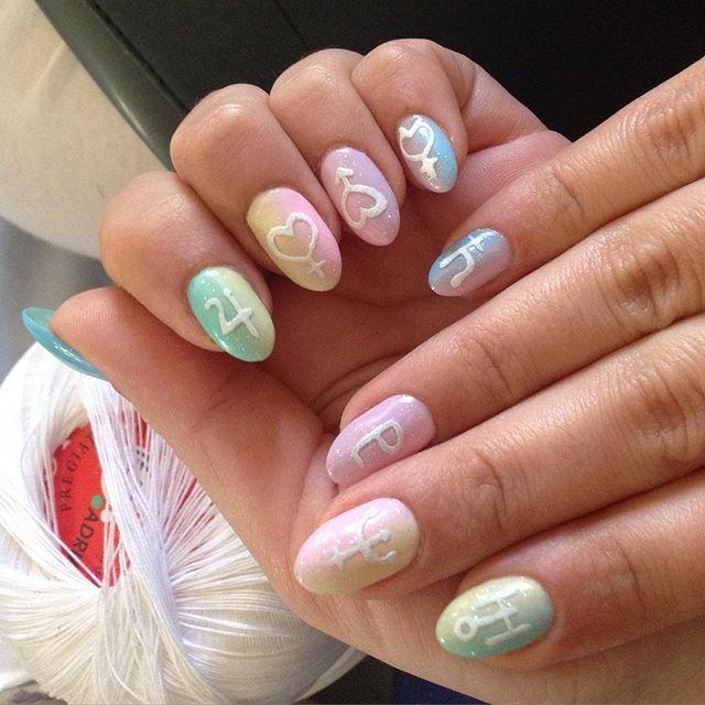 sailor moon nail art                                                       …