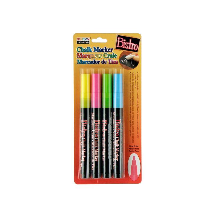 Bistro Chalk Marker Fine Point Set 4/PkgBistro Chalk Marker Fine Point Set 4/Pkg,