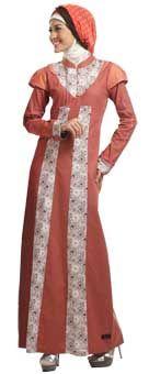 Baju Gamis yang Trendi dengan Pola Sederhana