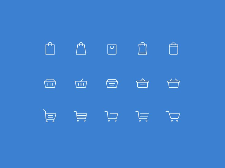 Decided to make my own set of shopping cart icons and share with the community. There are 3 different sizes, but everything is vector (you know those creepy half-filled pixels after resizing even v...