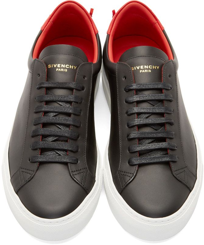 c6e6a7fe2b922d Givenchy Black Calfskin Low-Top Sneakers | men shoes | Givenchy sneakers,  Sneakers, Shoes