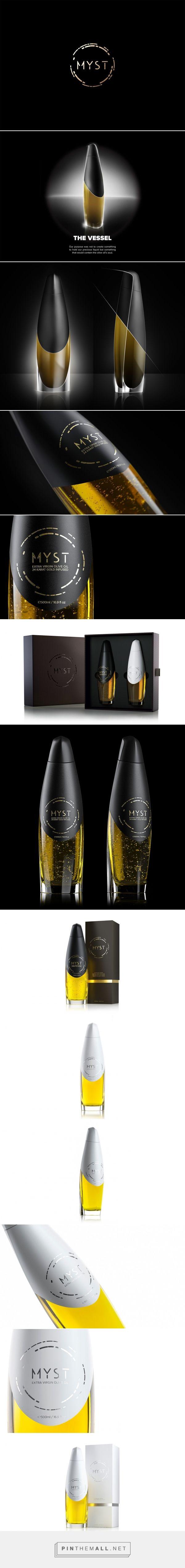 Myst - Ultra Premium OliveOil packaging design - http://www.packagingoftheworld.com/2016/07/myst-ultra-premium-olive-oil.html