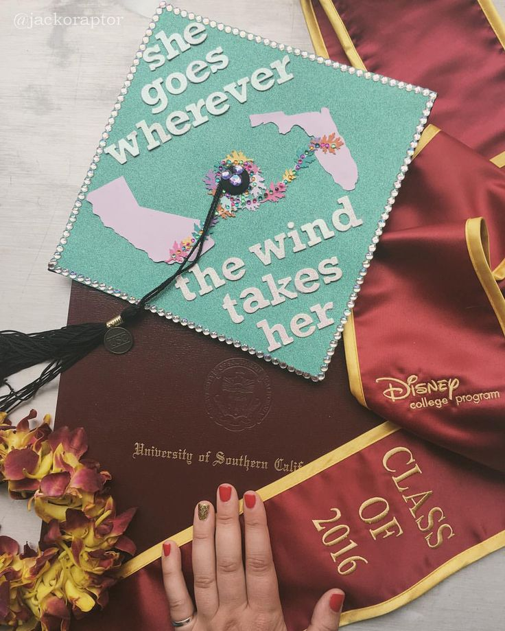 My graduation accessories were, of course, Disney inspired.