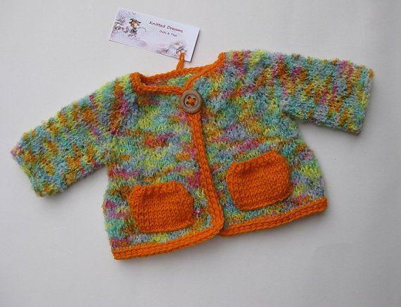 Waldorf doll clothes melange coat with small pockets by tatocka, $36.00