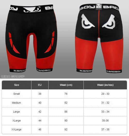 Shorts 73982: Bad Boy Mens Sphere Compression Shorts Mma Large Black/Red BUY IT NOW ONLY: $31.49