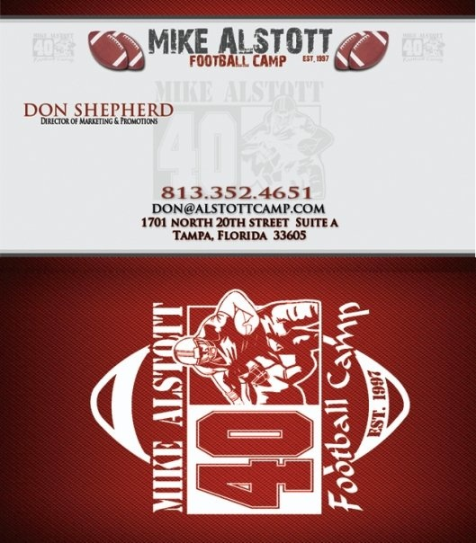The 20 best spectras business card portfolio images on pinterest football camp business card designed by spectra marketing solutions need business cards designed and printed reheart Images
