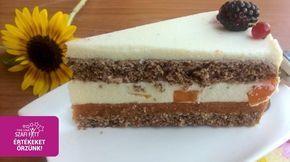 Vaníliakrémes barackzselés PALEO torta (gluténmentes, tejmentes, cukormentes, szénhidrátszegény)