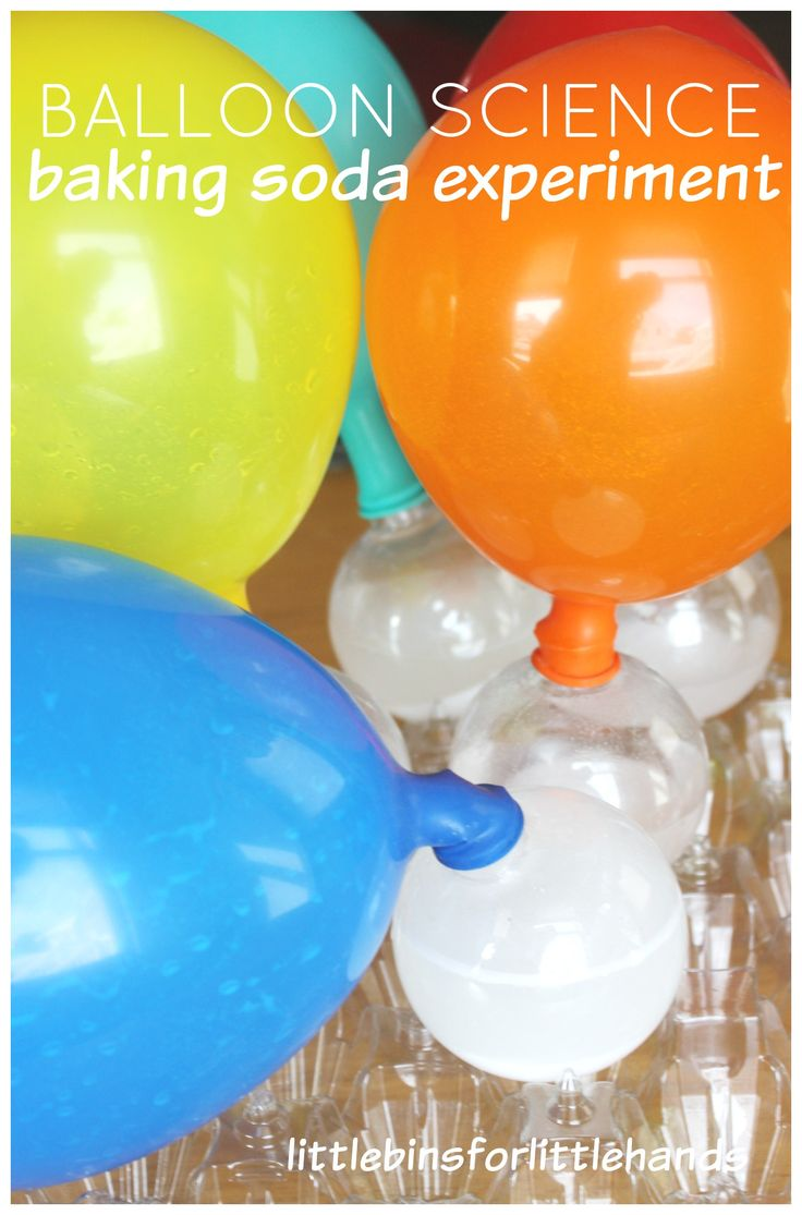Balloon Baking Soda Vinegar Experiment for Kids