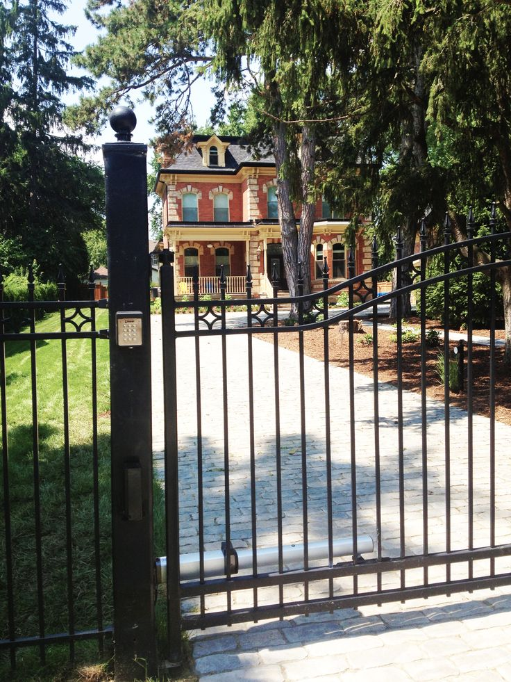 Residential Iron Swing Gates #AutomatedGates #Iron #SwingGate