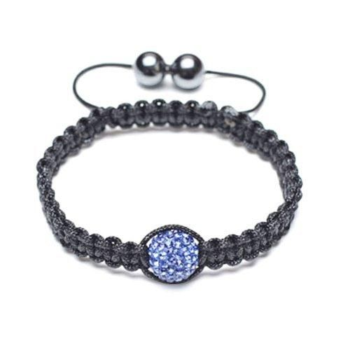 Bling Jewelry Childrens Bracelet Shamballa Inspired Sapphire Color Crystal 10mm