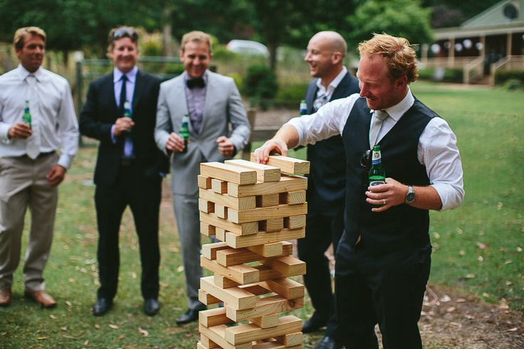 """Tracy and Andrew - Our beautiful wedding at """"Lilyvale"""" Royal National Park, NSW, Australia - 9 Nov 2013 Yard games - Giant Jenga"""