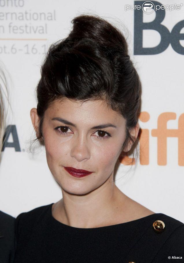 La  frenchy  Audrey Tautou à la première de  Thérèse Desqueyroux  au Festival International du Film de Toronto (TIFF) le 11 septembre 2012.