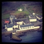 Ardbeg distillery from the sky!