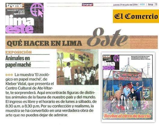 Diario El TROME del Grupo El COMERCIO Suplemento Lima Este Segmento: Que hacer en Lima.