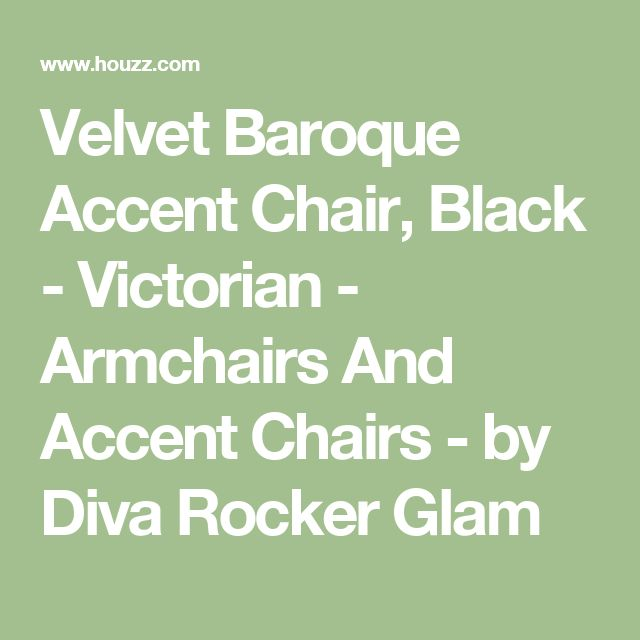 Velvet Baroque Accent Chair, Black - Victorian - Armchairs And Accent Chairs - by Diva Rocker Glam