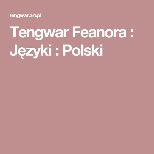 Tengwar Feanora : Języki : Polski