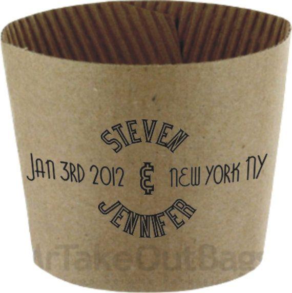 Custom paper coffee cups for weddings