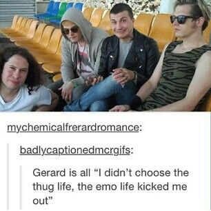 I don't know about Gerard, but the thug life definitely chose Frank...