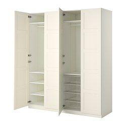 "78 3/4"" x 23 5/8"" x 93 1/8 ""--- IDEAS FOR GRAY CLOSET BELOW:::  IKEA Double BERGSBO PAX Wardrobe -  $665.00"