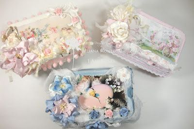 Shabby Chic Easter Egg Boxes, Easter baskets, fill with Easter treats, made with recycled egg cartons