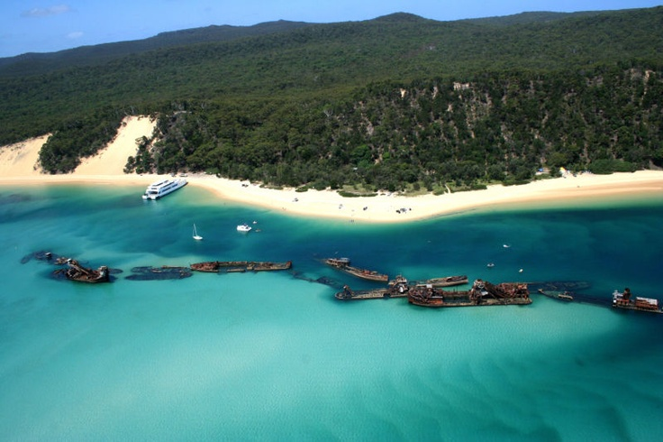 Moreton Island...heaven on earth!! Only accessible by boat.