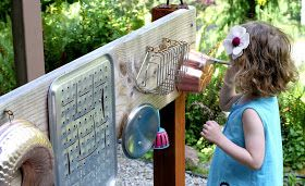 Fun at Home with Kids: Backyard Design: DIY Outdoor Sound Wall/Music Station
