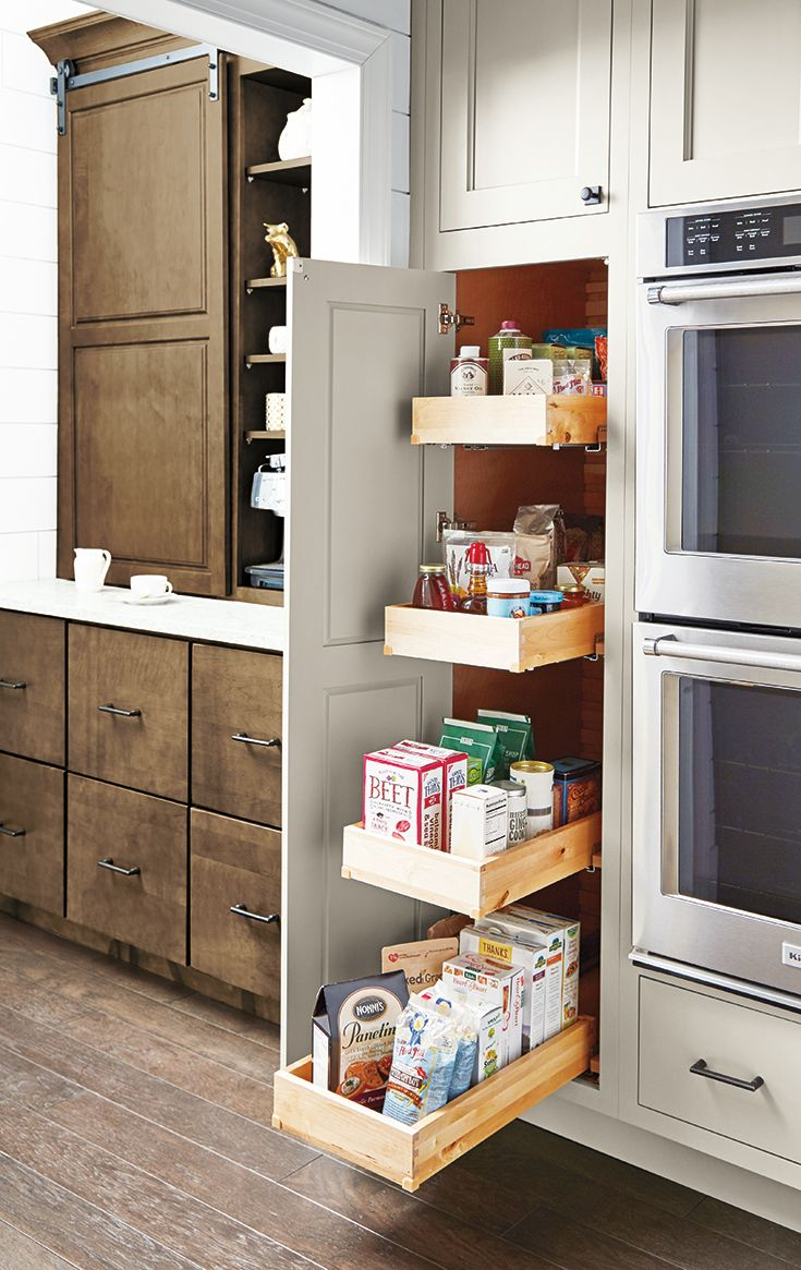 Planning A Kitchen Renovation A Tall Pantry With Deep Pull Out Drawers Makes Achieving A Well O Kitchen Design Small Tall Kitchen Cabinets Kitchen Renovation