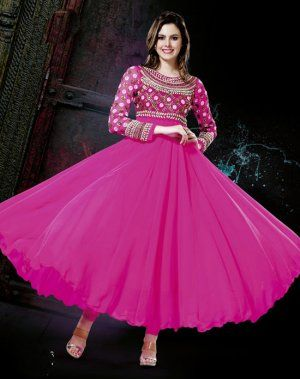 Amazing Pink Color Georgette Indian Churidar Kameez DLSS1316. Sale : $133.00
