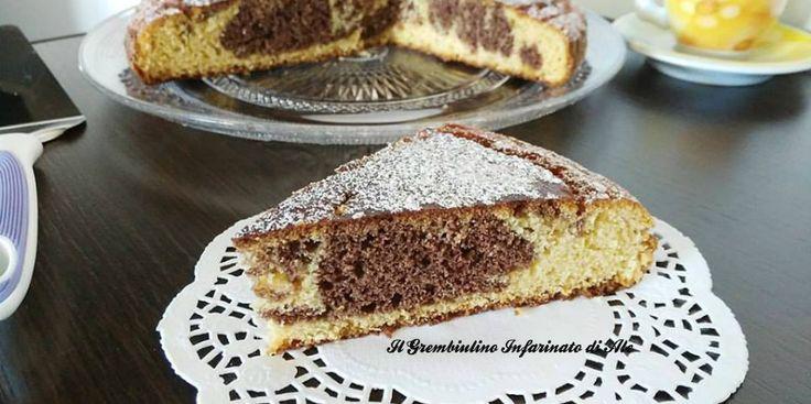 Torta variegata al mais e mandorle