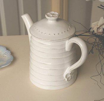 Vintage Ribbed Tea Pot - The Hamptons House