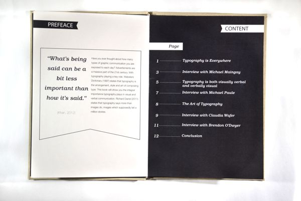 Addicted to Type - Contents Page by Nick Beel, via Behance