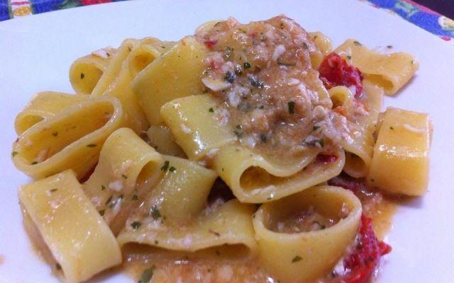 Calamarata con scorfano, rana pescatrice e cannocchie #ricette #recipe #primi #pasta