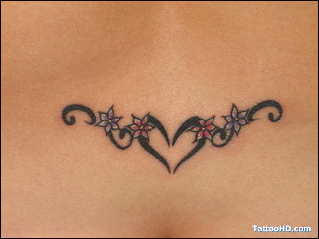 Download Free Heart Tattoos On Lower Back Black tribal heart tattoo on lowerback to use and take to your artist.