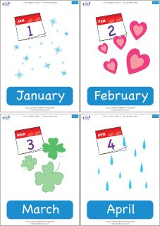 Months of the year flashcards from Super Simple Learning. #Kindergarten #earlyelementary #ESL
