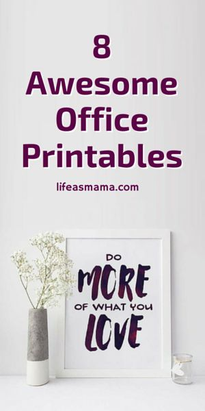 Rid your office of boring, white walls. These printables are motivational and so bright! I love ALL of them!