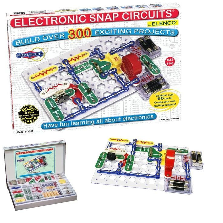 Snap Circuits Sc-300 Electronics Kit Discovery Standard Packaging  Free Shipping #Elenco