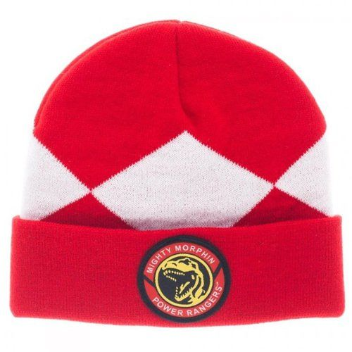Commemorate your favorite cult classic with an awesome Mighty Morphin Power Rangers Red Ranger Cuff Beanie. Free shipping on Power Rangers orders over $50. #powerrangers