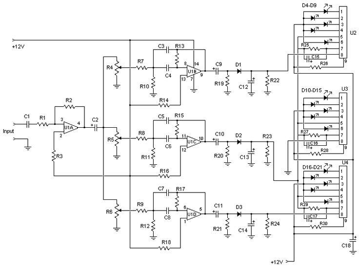Magnificent 3 Channel Spectrum Analyzer Circuit Diagrams Schematics Wiring Digital Resources Ommitdefiancerspsorg