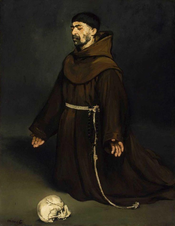 Édouard Manet - Moine en prière (1865)