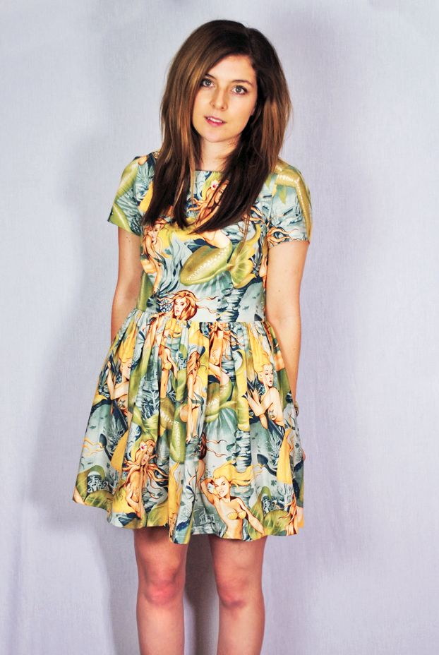 Alexander Henry sirens fabric Christine Haynes Emery dress
