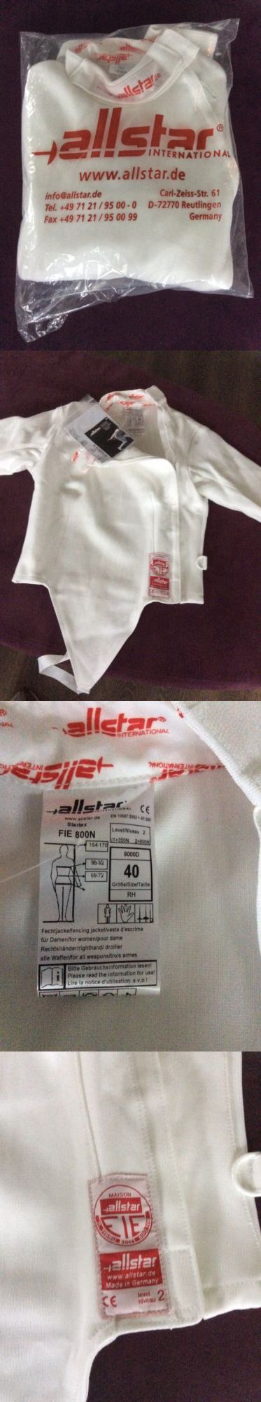 Fencing 47322: New Allstar Startex Women Fencing Jacket Size 40 -> BUY IT NOW ONLY: $180 on eBay!