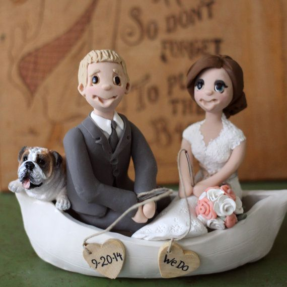 Fishing Couple Wedding Cake Topper By CherryRedToppers On Etsy