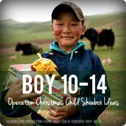 Operation Christmas Child Shoebox Ideas   Boy 10-14