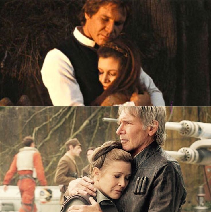Han and Leia!  This breaks my heart! But The Force Awakens was soooo good!!