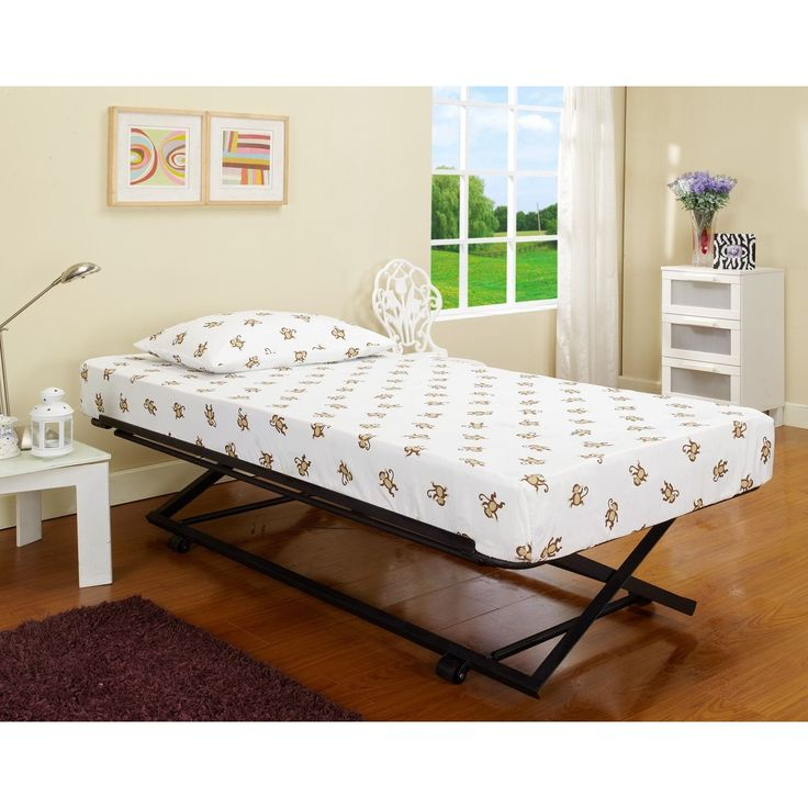 Roll-out Pop-up Steel Trundle Twin Bed - Overstock Shopping - Great Deals on Kids' Beds