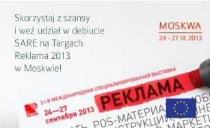 Już we wrześniu zapraszamy Cię do Moskwy!  15 bezpłatnych wejściówek na Specjalistyczne Targi REKLAMA 2-13 czeka!