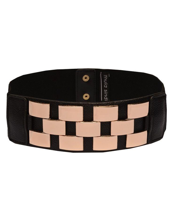 THULA SINDI   Block Belt in Black - Women - Style36  #RihannaStyle36